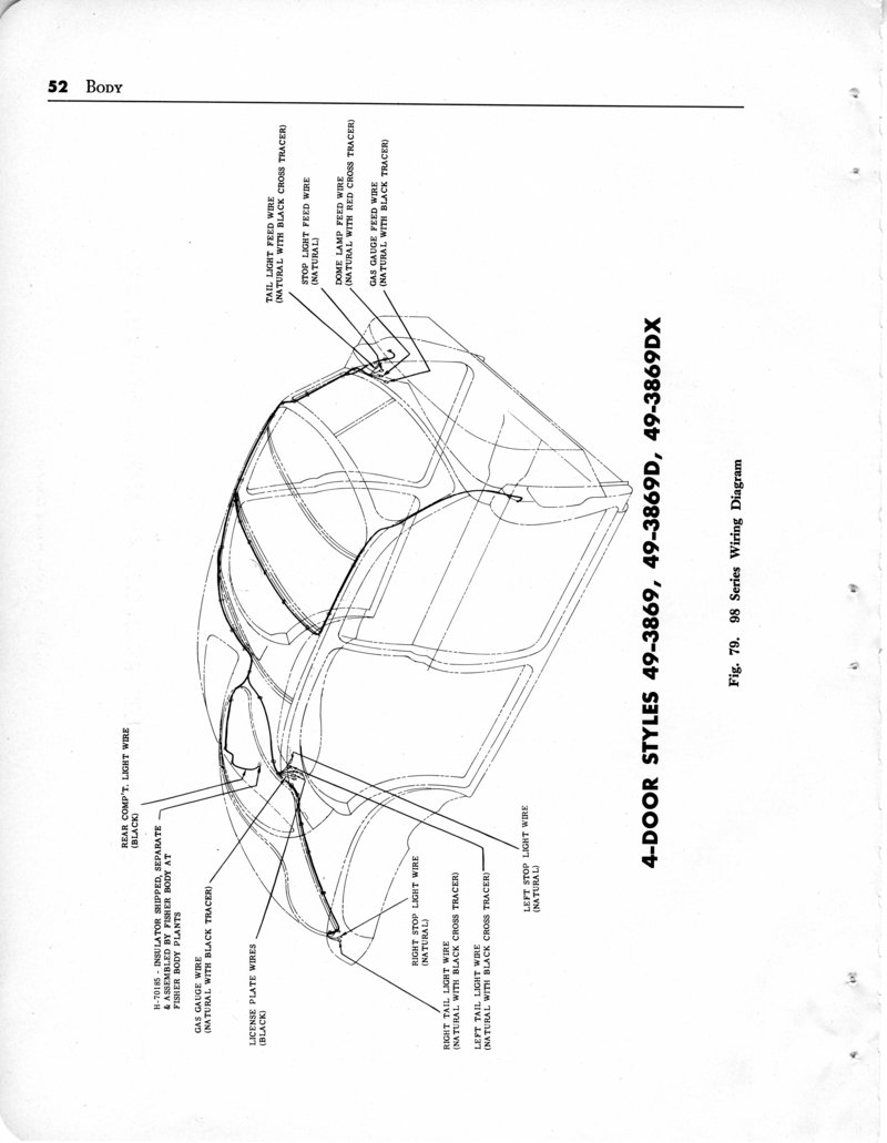 index of 1949_oldsmobile imagesBody Wiring Diagram For The 1949 Oldsmobile Convertible Style 3567dx #8