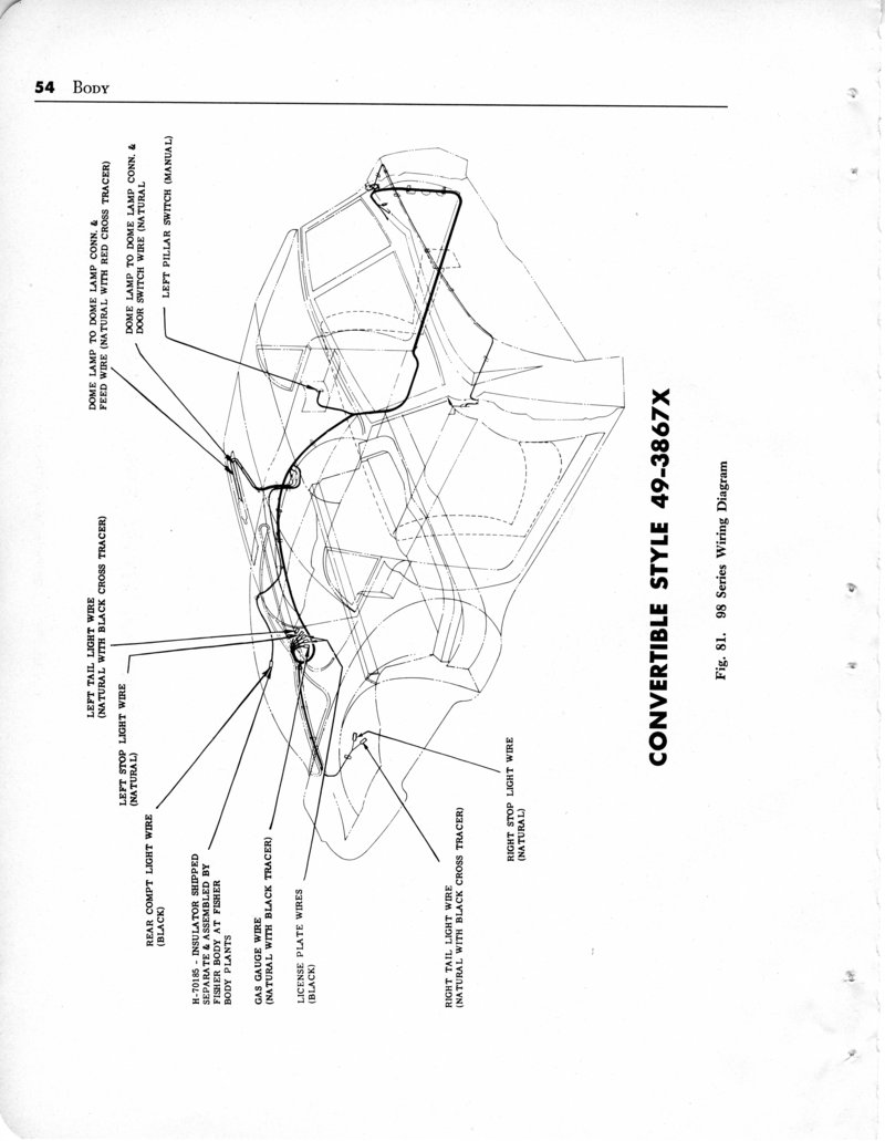 index of 1949_oldsmobile imagesBody Wiring Diagram For The 1949 Oldsmobile Convertible Style 3567dx #12