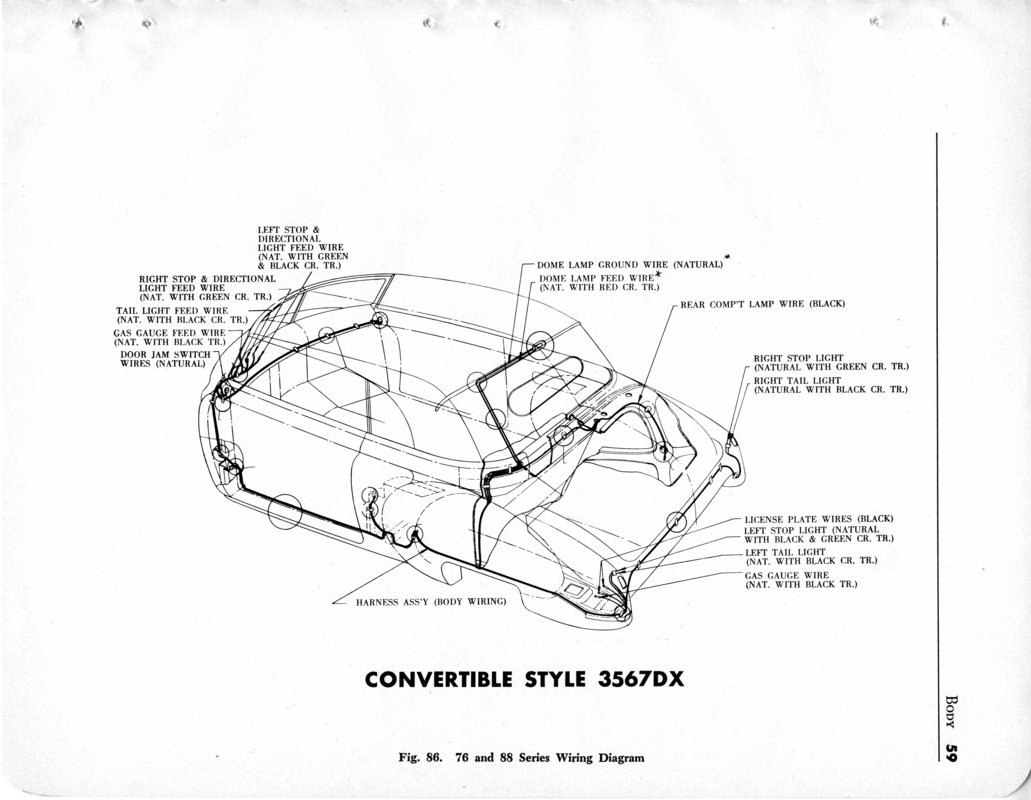 oldsmobile 1949 shop manual 6 and 8Body Wiring Diagram For The 1949 Oldsmobile Convertible Style 3567dx #1