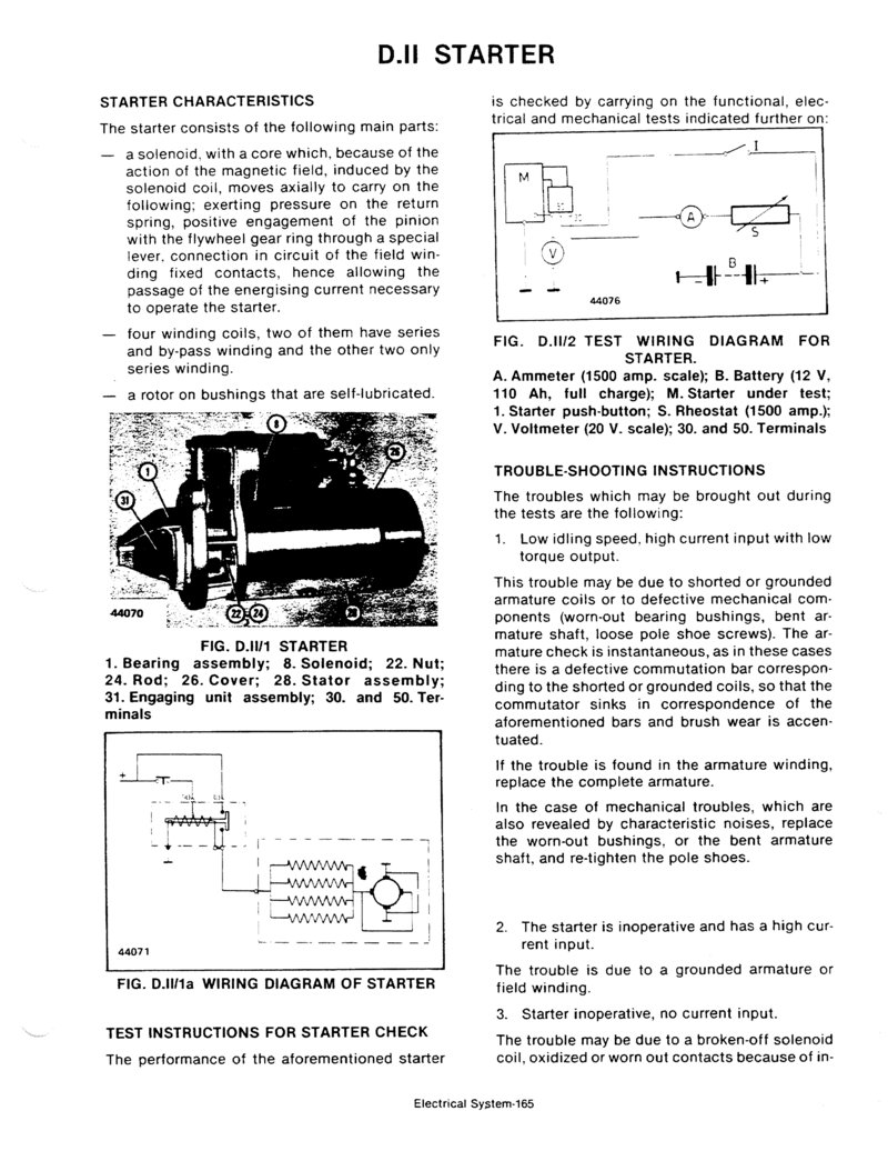 Service Manual Long 260 310 Series Tractor Rheostat 110 Volt Wiring Diagram Previous Page165