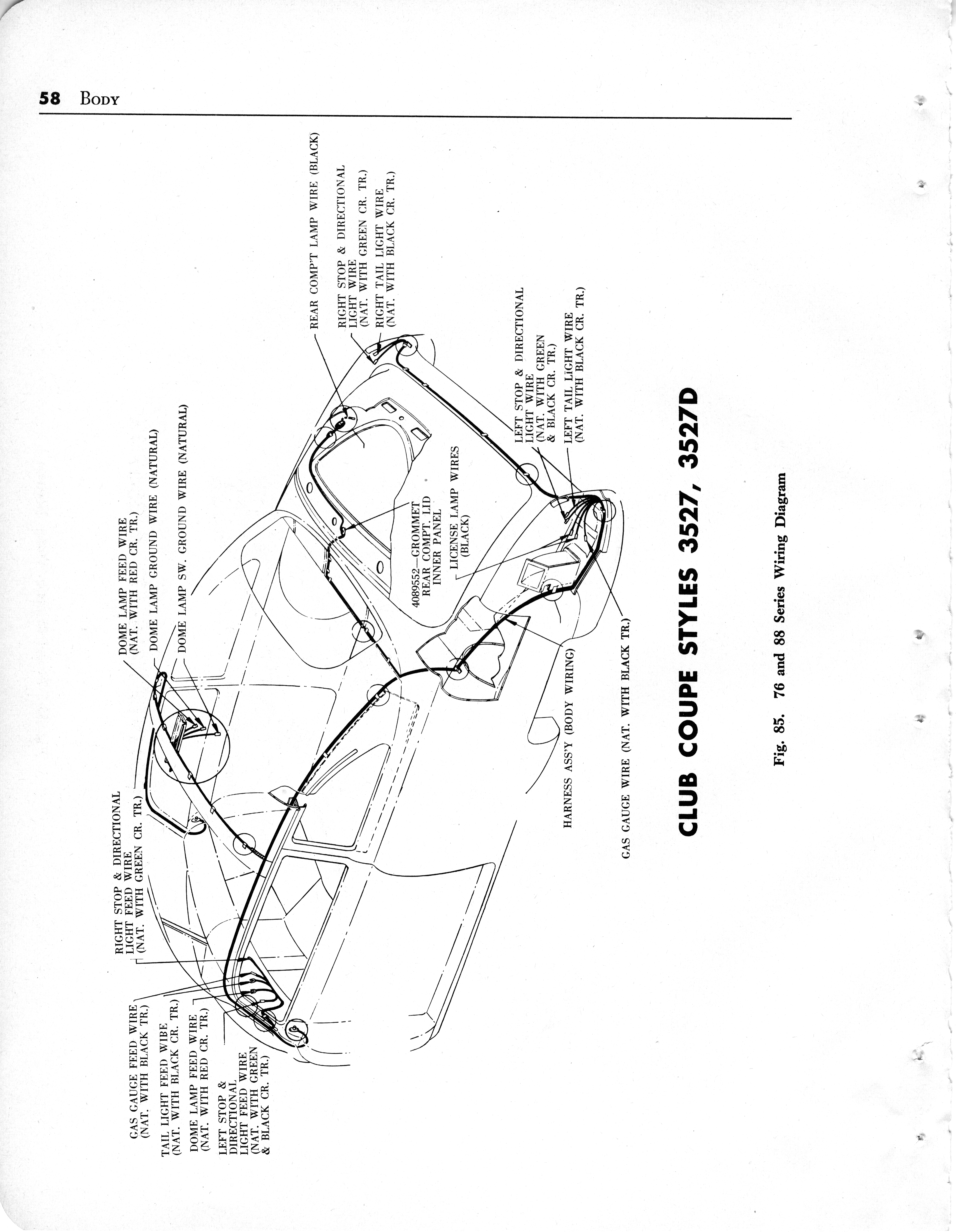 index of scans 000 242Body Wiring Diagram For The 1949 Oldsmobile Convertible Style 3567dx #14